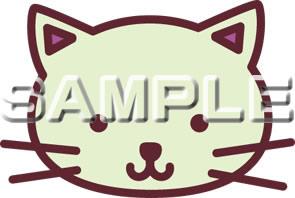 ネコのイラスト(顔)