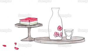 菱餅と白酒、桃の花