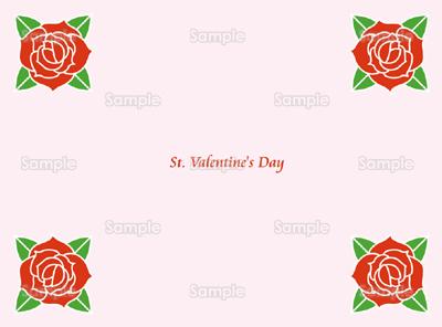 バレンタイン用バラのイラスト