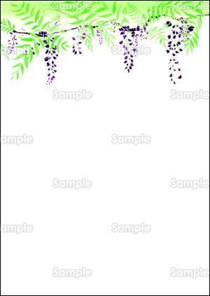 藤の花のデザインテンプレート