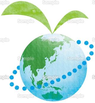 エコをイメージした地球のイラスト