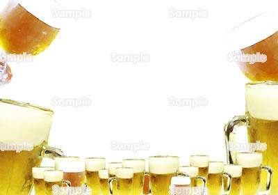 ビールのフレームデザイン