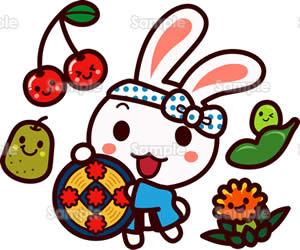 花笠祭りのイラスト