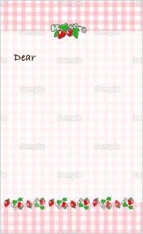 いちごのイラストのカード