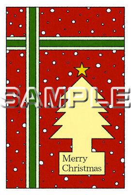 クリスマスの塗り絵カード
