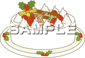 ホールタイプのクリスマスケーキ