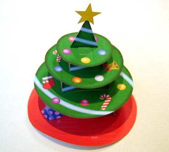 立体クラフトクリスマスツリー