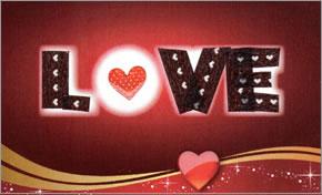 バレンタイン・デコカード LOVE(ゴージャス)