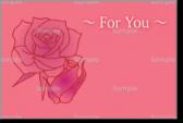 バレンタインカード・バラの花