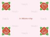 バレンタインにぴったりな赤いバラのイラスト