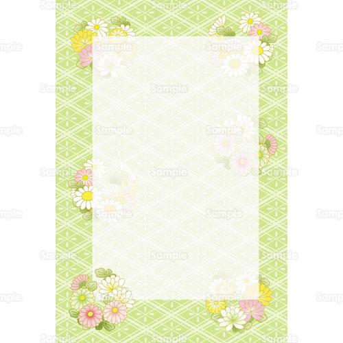 菊の花のフレームイラスト